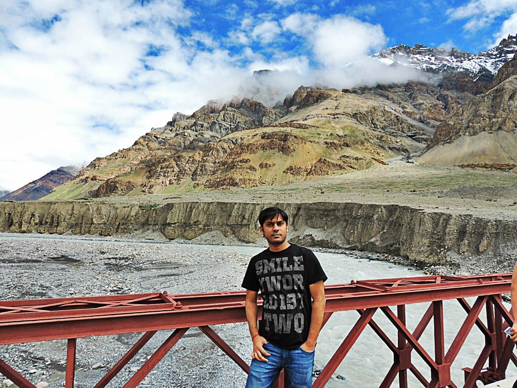 Vivek, on the way to Kaza