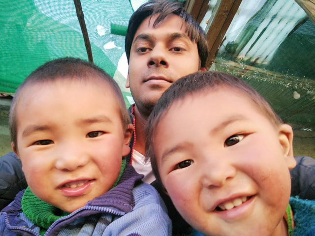with beautiful Ladakhi Children