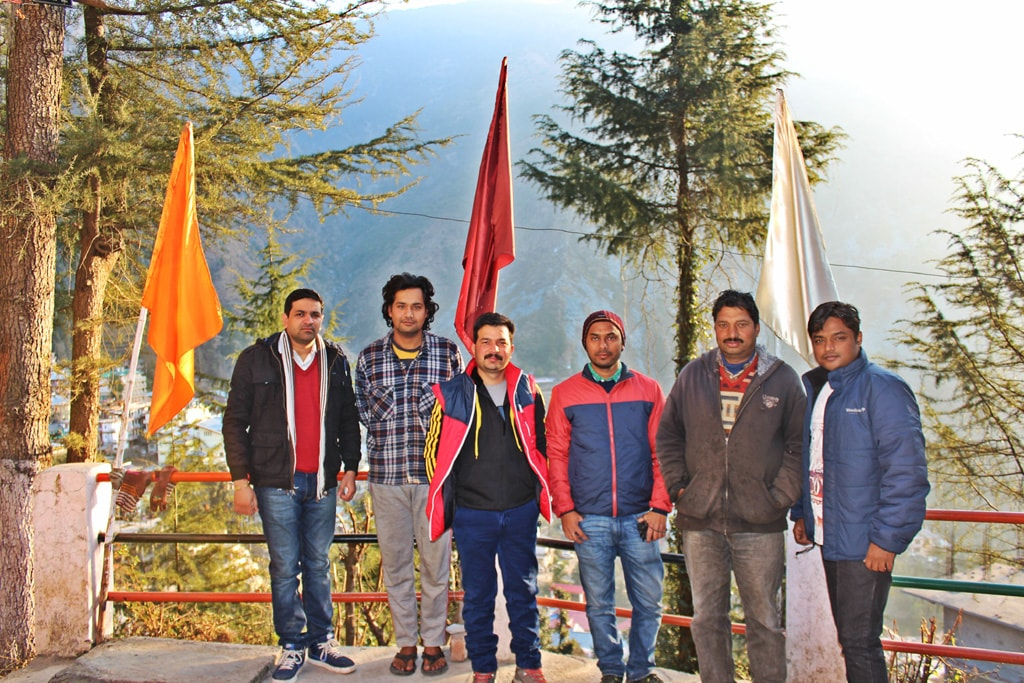 With Triund Junction Guesthouse staff member