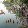 View of a ghat in a village