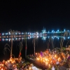 Chhath ghat at evening